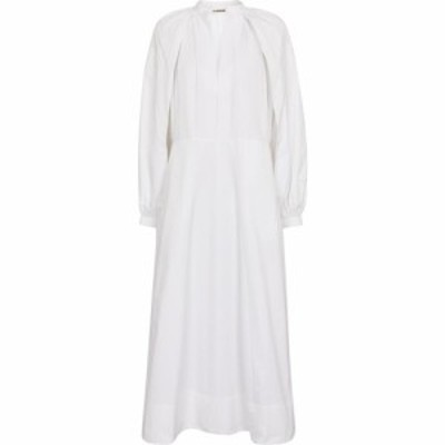 ジル サンダー Jil Sander レディース ワンピース ミドル丈 ワンピース・ドレス cotton poplin midi dress White