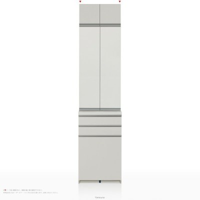 上棚付き食器棚 キッチンボード パモウナ 食器棚 WGシリーズ WG-S600K ハイカウンター [開き扉] (幅60cm, 奥行き45cm, パールホワイト)