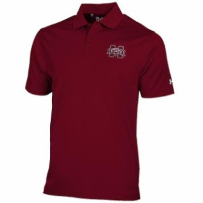 Under Armour アンダー アーマー スポーツ用品  Under Armour Mississippi State Bulldogs Maroon Solid Performance Polo