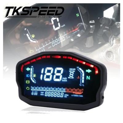 スピードメーター オートバイ 汎用 LED 液晶デジタル 走行距離 バックライト 2,4 シリンダー BMW ホンダ ドゥカティ