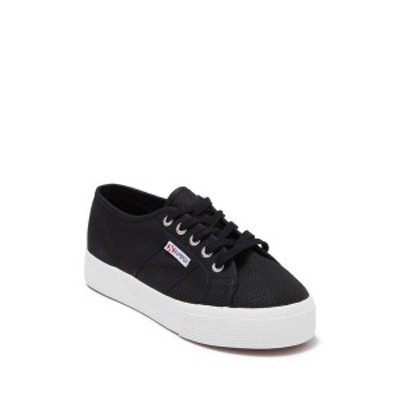 スペルガ レディース スニーカー シューズ Cotu Platform Sneaker BLK/WHTE