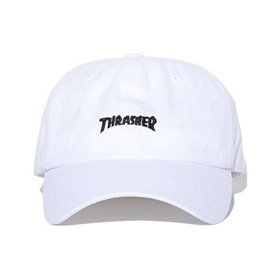 スラッシャー THRASHER ローキャップ 帽子 アジャスターバック MAGロゴ刺繍 (16TH-C25) F White