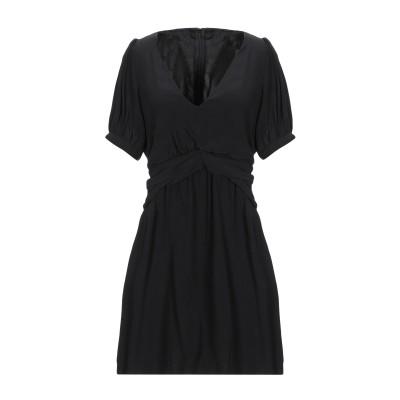 VICOLO ミニワンピース&ドレス ブラック S レーヨン 100% ミニワンピース&ドレス