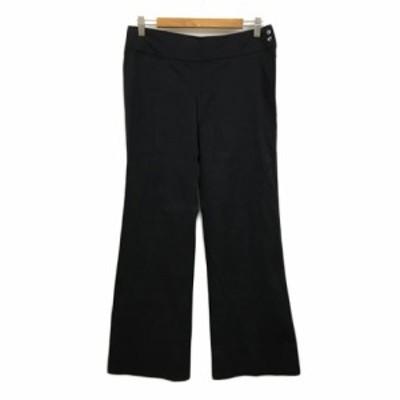 【中古】スリッツ SLITZ UNITED ARROWS パンツ スラックス ストレート ロング 40 黒 ブラック レディース