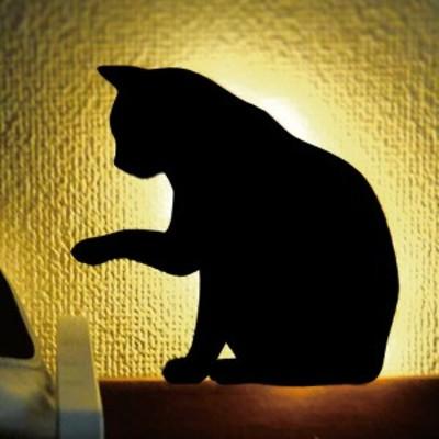 壁面取付LEDライト 猫 ねこ ネコ キャット ウォールライト 間接照明 照明 照明器具 ブラケットライト 壁掛け照明 壁 玄関 階段 廊下 寝室