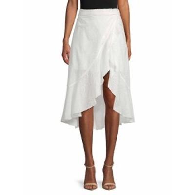 アリソンコレクション レディース スカート Eyelet Mock-Wrap Skirt