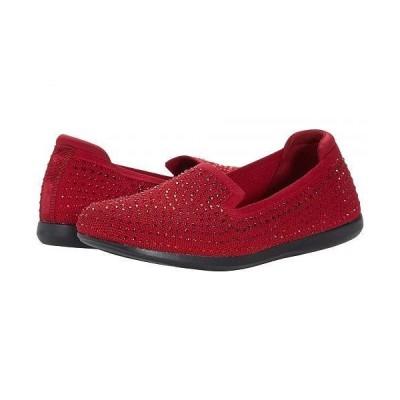 Clarks クラークス レディース 女性用 シューズ 靴 ローファー ボートシューズ Carly Dream - Red Knit/Sparkles