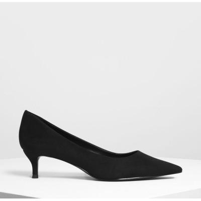 クラシック キトゥンヒール パンプス / Classic Kitten Heel Pumps (Black)