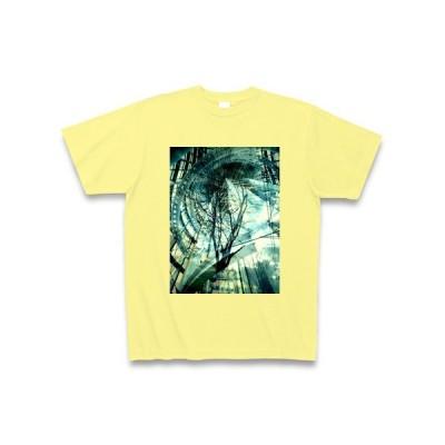 幻想的な風景写真 Tシャツ Pure Color Print(ライトイエロー)