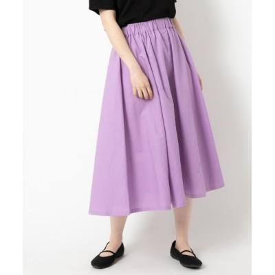 【ニーム/NIMES】 コットンリネン キャンバス フレアースカート