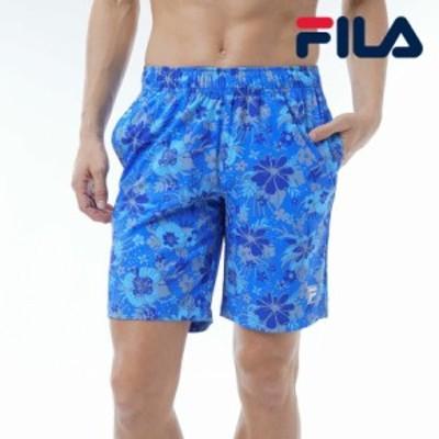 フィラ FILA 日本正規品 メンズ ボトムス ショートパンツ サーフトランクス ビーチ プール スポーツ アウトドア ブルー
