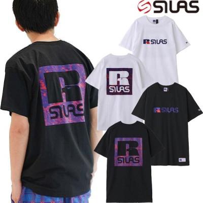 サイラス SILAS x RUSSELL BOX LOGO PRINT S/S TEE ラッセル コラボ ボックスロゴ 半袖 Tシャツ ショートスリーブ メンズ レディース ユニセックス ブランド