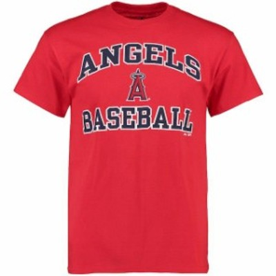 Majestic マジェスティック スポーツ用品  Majestic Los Angeles Angels Red Heart and Soul T-Shirt