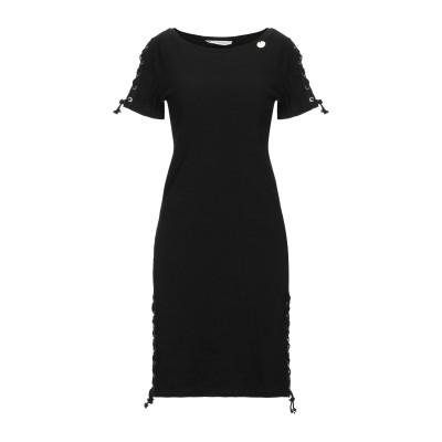 MANGANO ミニワンピース&ドレス ブラック XS/S コットン 95% / ポリウレタン 5% ミニワンピース&ドレス