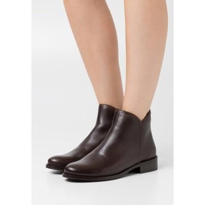 アンナフィールド ブーツ&レインブーツ レディース シューズ LEATHER - Ankle boots - brown
