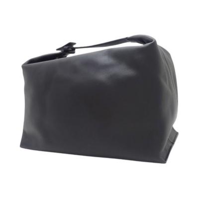 ロエベ WASH BAG ハンドバッグ 手持ちかばん カバン ポーチ カーフ  ブラック黒 シルバー金具 109.54.K66 40800058041【アラモード】