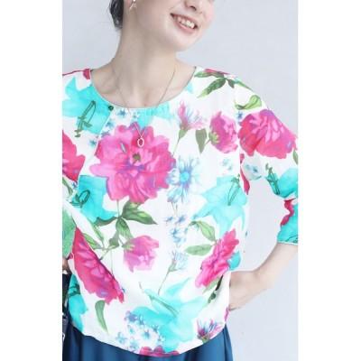 FRENCH PAVE / 鮮やかな花咲く水彩画ブラウストップス WOMEN トップス > シャツ/ブラウス