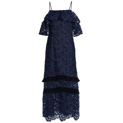 レイチェル・ゾー RACHEL ZOE ロングワンピース&ドレス ダークブルー 4 ポリエステル 100% / アセテート ロングワンピース&ドレス