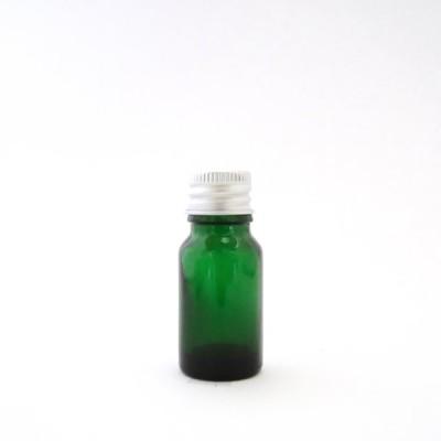 アロマ遮光瓶 10mL グリーン【アルミキャップ】*密封中栓付き