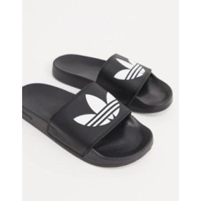 アディダス メンズ サンダル シューズ adidas Originals adilette lite sliders in black Black