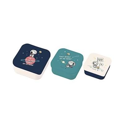大西賢製販 PEANUTS ASTRONAUT シールランチボックスセット ブルー 3P SLG-1302