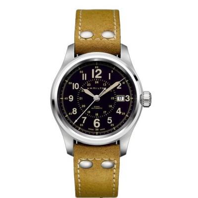 ハミルトン 腕時計 HAMILTON カーキフィールドオート40mm ブラウンヌバックストラップ H70595593 国内正規品