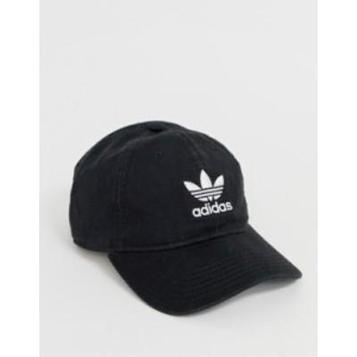アディダス メンズ 帽子 アクセサリー adidas Originals cap in black BLACK