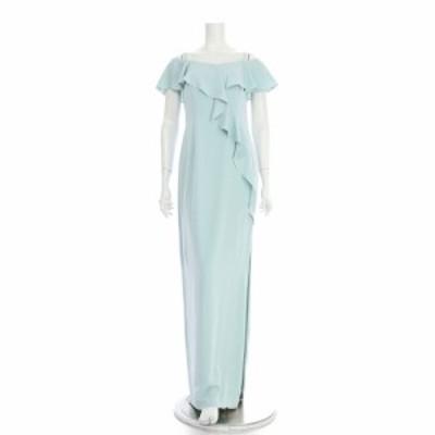 アドリアナパペル ドレス サイズM レディース 新品同様 ライトブルー系 ロングドレス 表地 裏地:ポリエステル100%【中古】20210126