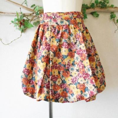 美品 レッセパッセ LAISSE PASSE ほぼ オールシーズン 花柄 の 可愛い バルーン スカート 日本製 38