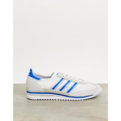 アディダス adidas Originals メンズ スニーカー シューズ・靴 Sl 72 Trainers In White グレー