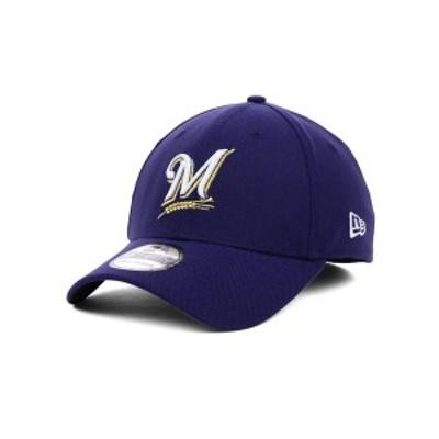 ニューエラ メンズ 帽子 アクセサリー Milwaukee Brewers MLB Team Classic 39THIRTY Stretch-Fitted Cap LightNavy