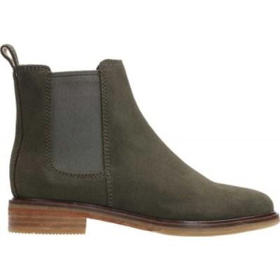 クラークス Clarks レディース ブーツ チェルシーブーツ シューズ・靴 Clarkdale Arlo Chelsea Boot Dark Olive Suede