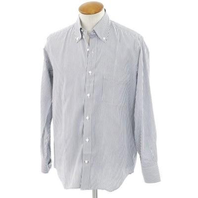 ダニエルクレミュ DANIEL CREMIEUX カジュアルシャツ スモークネイビー×ホワイト M