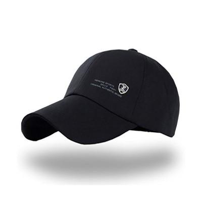 ONE LIMITATION(ワン リミテーション) キャップ 帽子 おしゃれ ロゴ 刺繍 無地 メンズ レディース CP021 (01.ブラック)