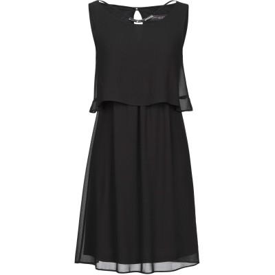 CARLA MONTANARINI ミニワンピース&ドレス ブラック 38 ポリエステル 100% ミニワンピース&ドレス