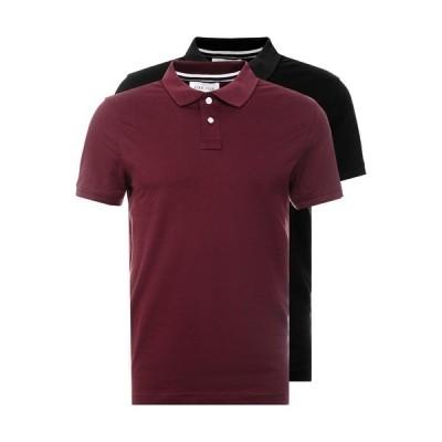 ピアワン ポロシャツ メンズ トップス 2 PACK - Polo shirt - bordeaux/black