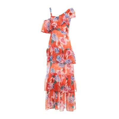 INTRECCI ロングワンピース&ドレス オレンジ 44 ポリエステル 100% ロングワンピース&ドレス