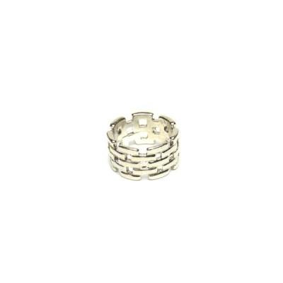 チェーン模様 リング シルバーカラー  レディース 指輪 アクセサリー f-er78