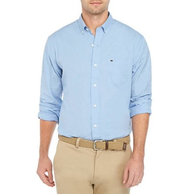 クラウン&アイビー メンズ シャツ トップス Motion Flex Long Sleeve End-On-End Woven Shirt