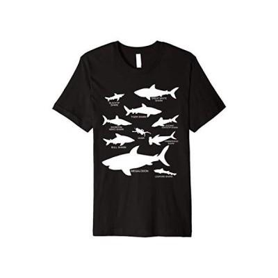 Types of Sharks Marine Biology Megalodon Great White Premium TShirt