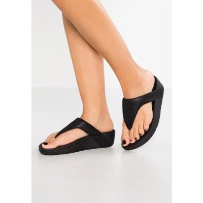 フィットフロップ レディース 靴 シューズ LOTTIE GLITZY - T-bar sandals - black