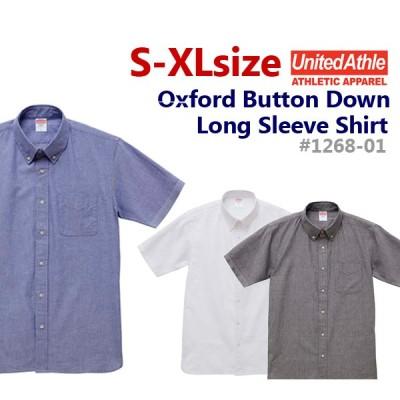 オックスフォード ボタンダウン ショートスリーブシャツ(半袖)1268-01・ボタンダウンシャツ・UNITED ATHLE・ユナイテッドアスレ