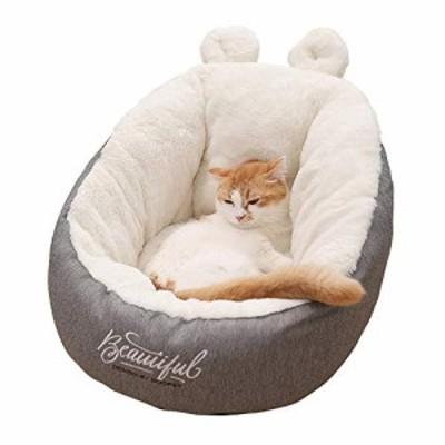 Qxf2019 猫のベッド、小さな人工ウサギふわふわのPP綿 - 穴猫の犬のベッド (中古品)