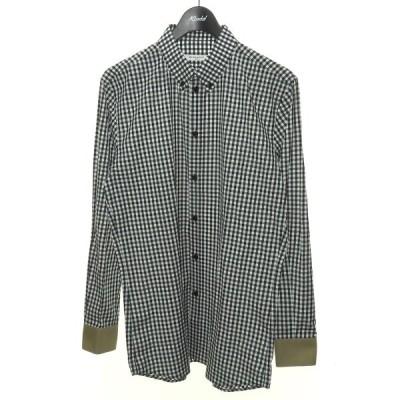 【5月27日値下】GIVENCHY ボタンダウンギンガムチェックシャツ ブラック×ホワイト サイズ:40 (渋谷店)