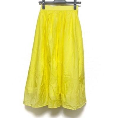 ノーリーズソフィー NOLLEY'S sophi ロングスカート サイズ36 S レディース 美品 - イエロー【還元祭対象】【中古】20210306