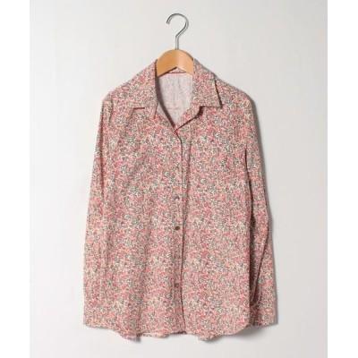 Leilian PLUS HOUSE/レリアンプラスハウス ボタニカルプリントシャツ ピンク系3 13+