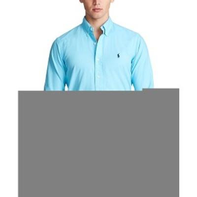 ラルフローレン メンズ シャツ トップス Men's Classic Fit Garment-Dyed Oxford Shirt French Turquoise