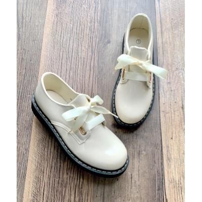Shoes in Closet -シュークロ- / サテンリボン 3ホールレースアップ マニッシュシューズ 7979 WOMEN シューズ > ドレスシューズ
