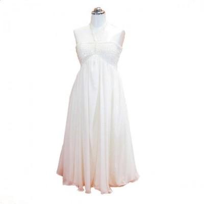 パーティードレス フォーマルドレス ホルダーネックドレス ウェディングドレス ホワイト 9号 P23