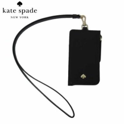 ケイトスペード アウトレット kate spade カードケース WLRU5927-001 ナイロン ストラップ付 カードケース card case lanyard / jae / bl